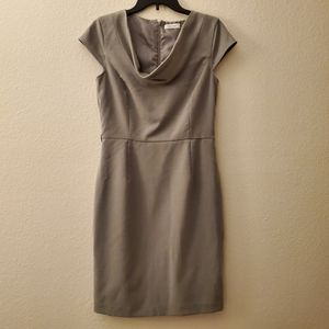 Calvin Klein Light Gray Business Dress Sz 8